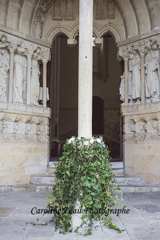 fleurs collégiale Candes Saint Martin CF Photographe