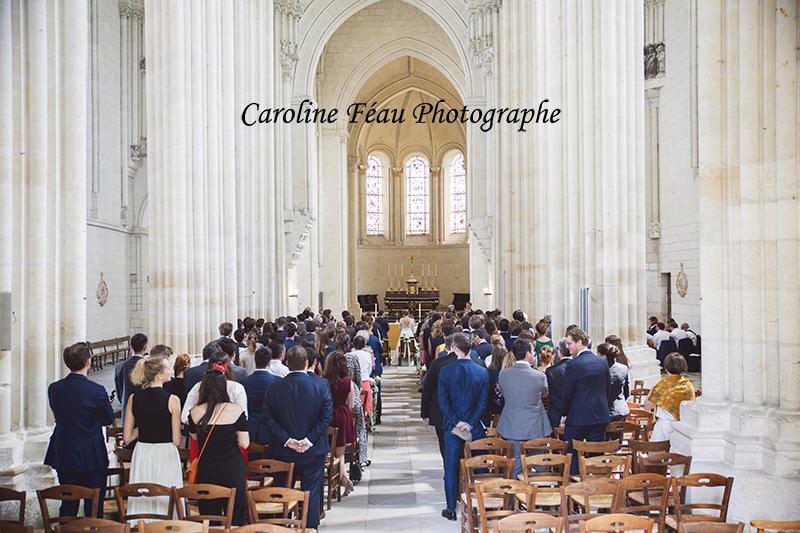 nef de la collégiale de Candes Saint Martin mariage CF Photographe