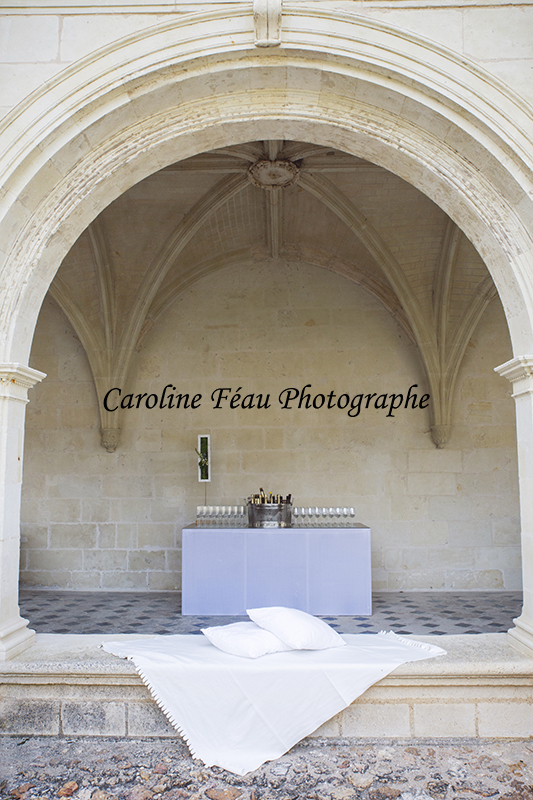 arcade du cloitre de l'abbaye de Fontevraud CF Photographe