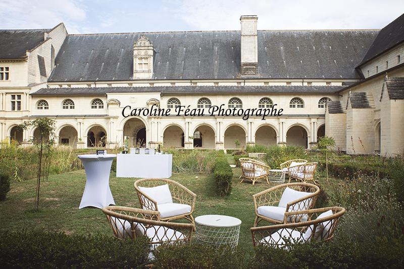 le cloitre Fontevraud vin d'honneur CF Photographe