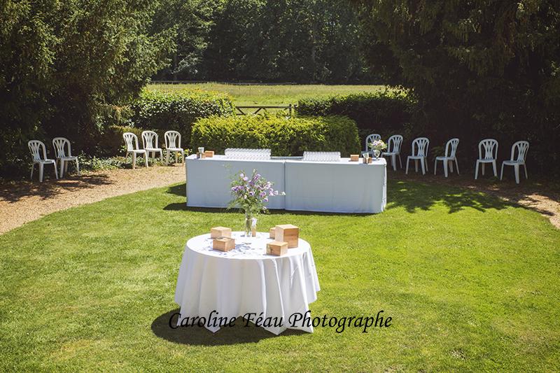 tables vin d'honneur domaine de la Gourdinière CF Photographe