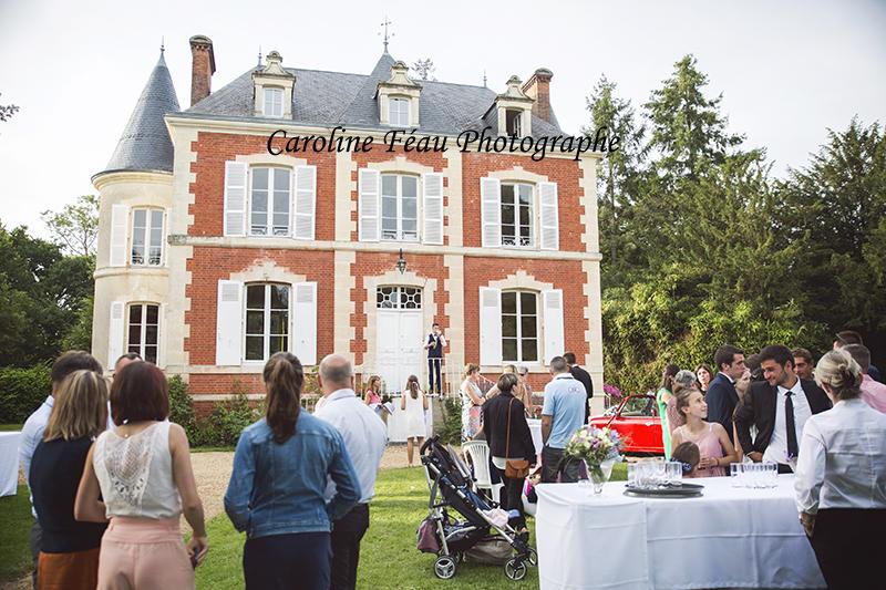 vin d'honneur chateau de la Gourdinière CF Photographe