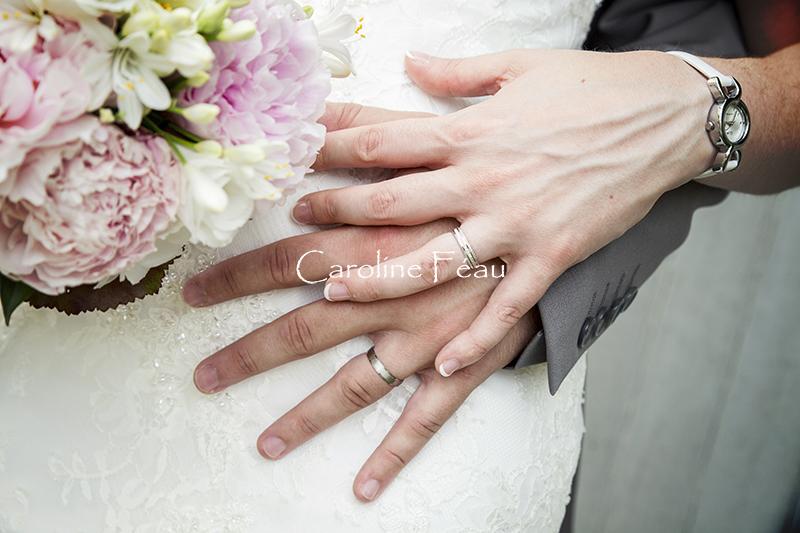alliances bouquet mariés CF Photographe