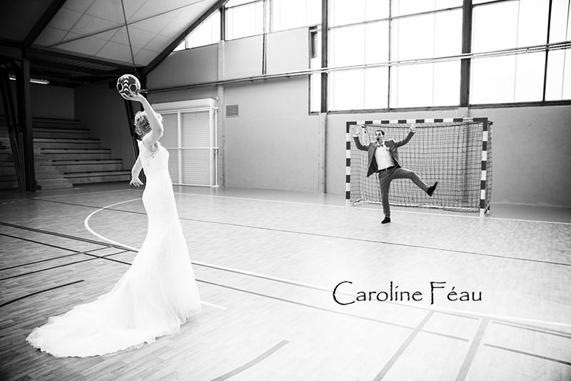 photo couple handball CF Photographe