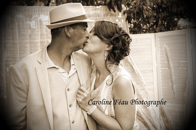 photographe de mariage années 20 Angers Tours CF Photographe