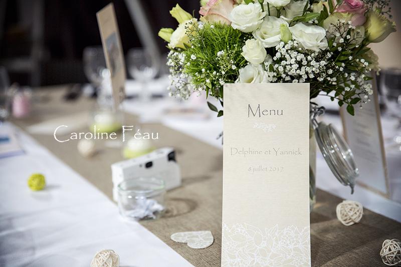 déco chemin de table mariage CF Photographe