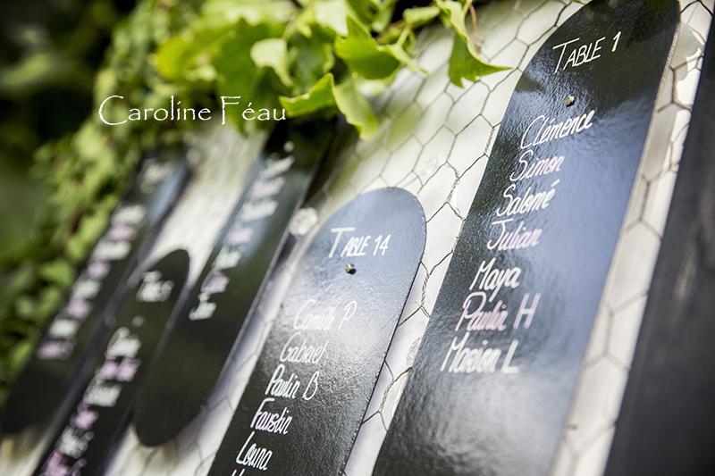 déco plan de table mariage Tours CF Photographe