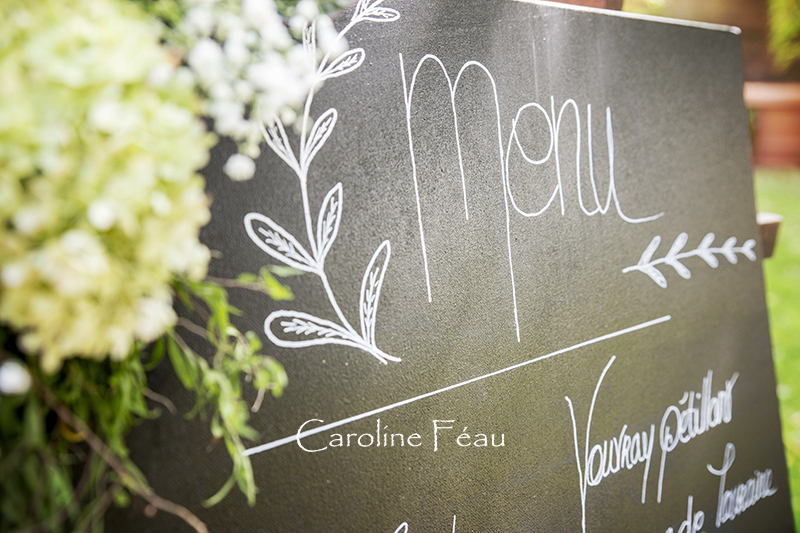 photo déco menu mariage CF Photographe