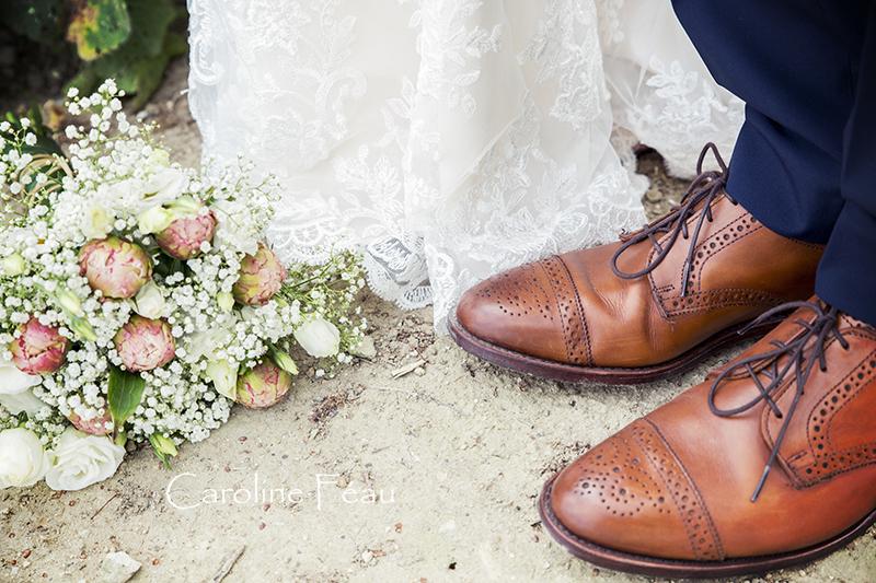 photographe mariage bouquet mariée CF Photographe