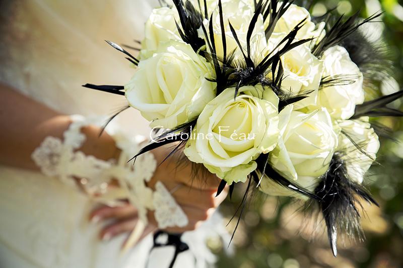photographe mariage indre et loire bouquet mariée CF Photographe