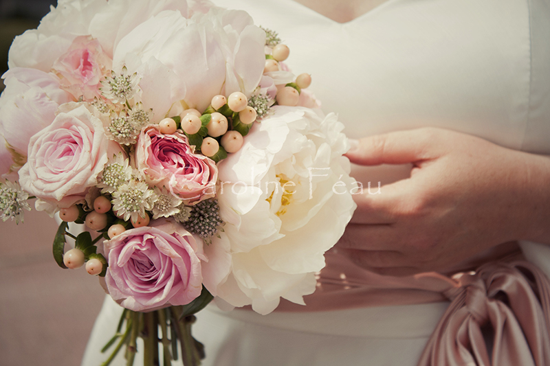 photographe mariage touraine bouquet mariée CF Photographe