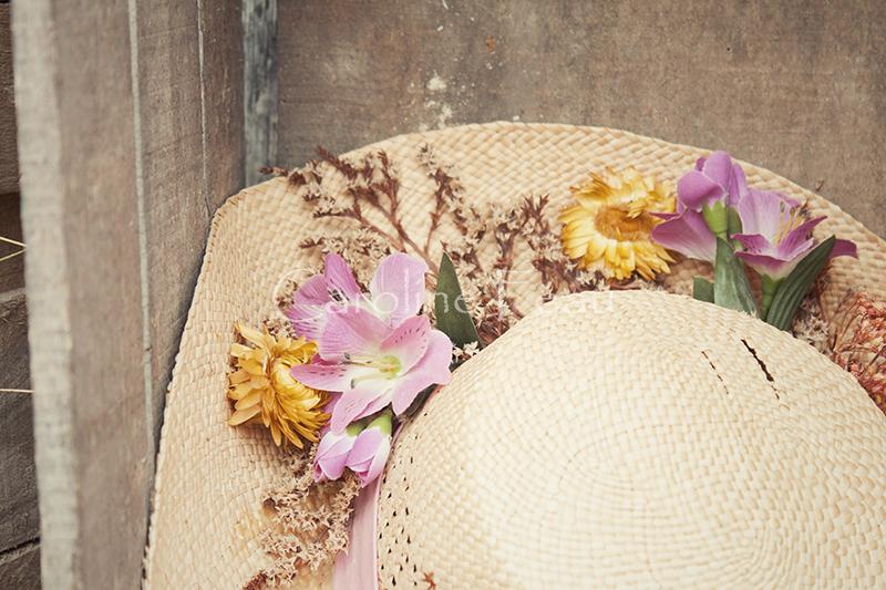 photographe mariage touraine déco chapeau CF Photographe