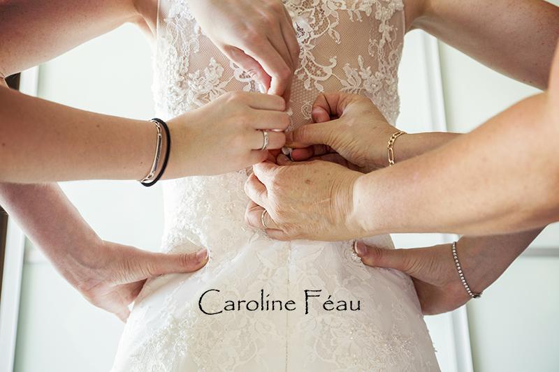boutonnage robe de mariée CF Photographe