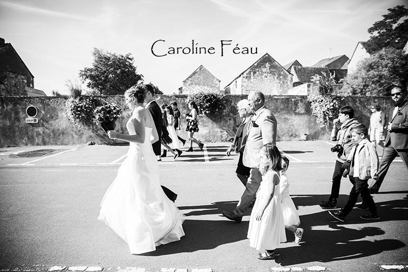 cortège mariage Sainte Maure de Touraine CF Photographe