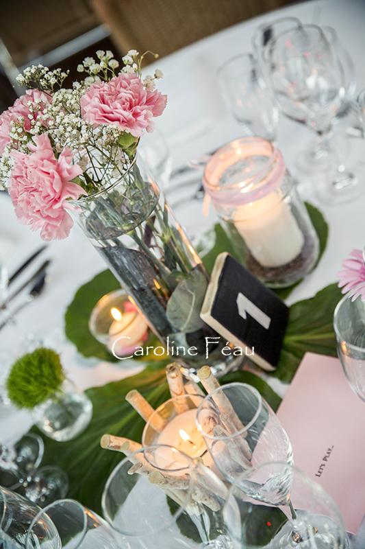 déco centre de table mariage CF Photographe