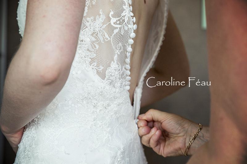 dos robe de mariée CF Photographe