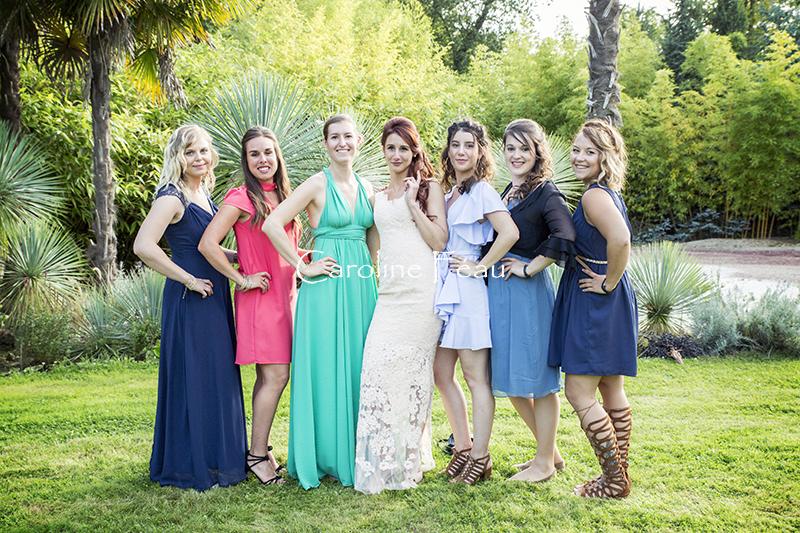 photo groupe décalée mariage CF Photographe