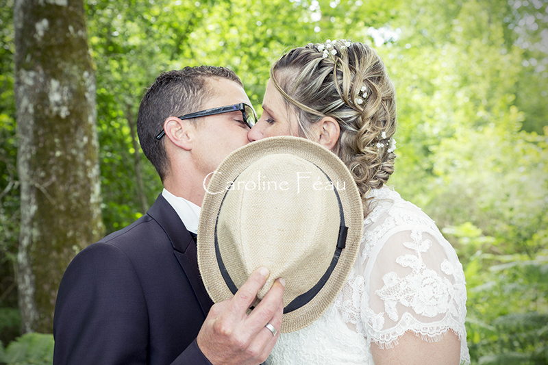 photographe mariage 37 bisou caché CF Photographe