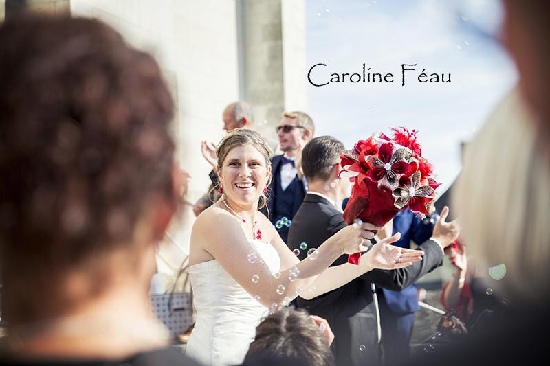sortie église mariage indre et loire CF Photographe