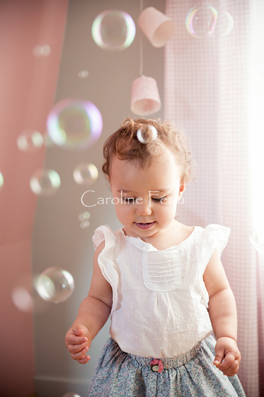 photographe indre et loire portrait enfant bulle CF Photographe