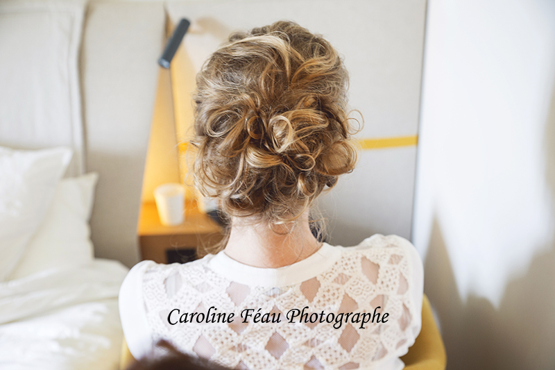 coiffure de la mariée hotel de l'abbaye Fontevraud CF Photographe