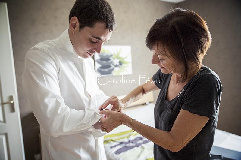 habillage marié Bourgueil CF Photographe