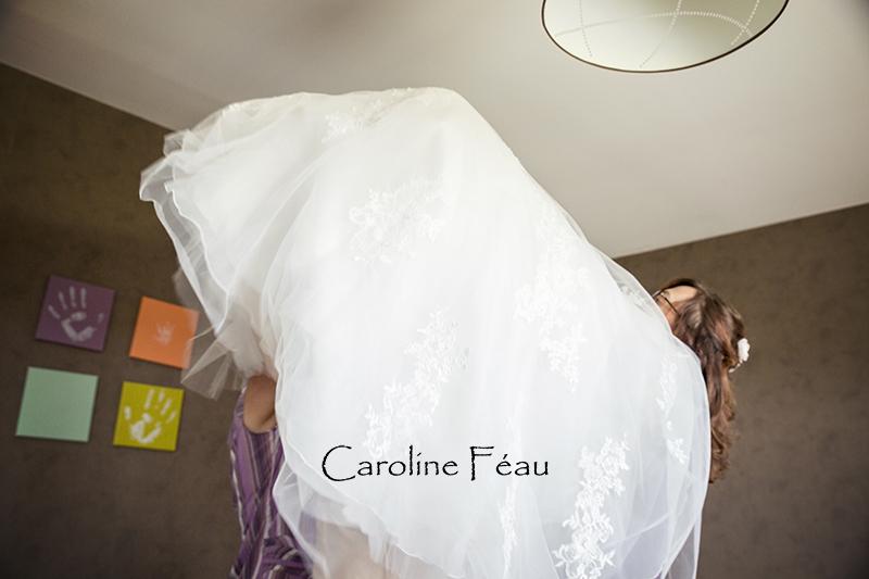 habillage mariée CF Photographe