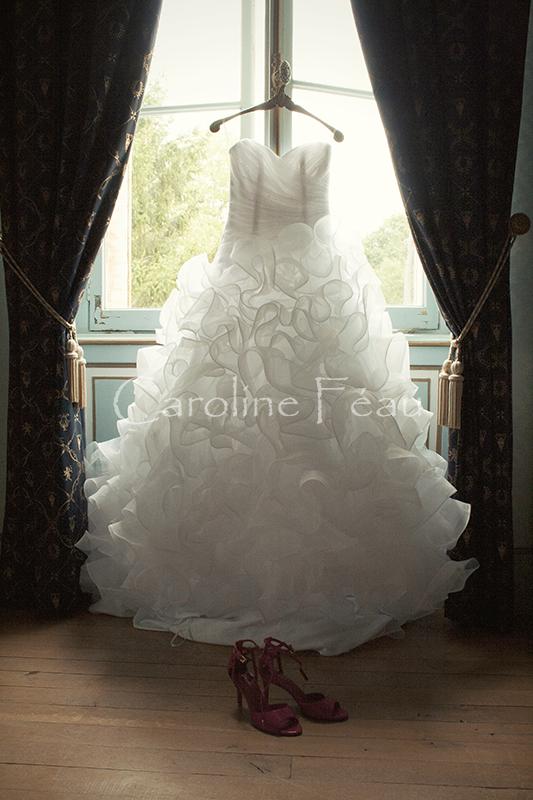 photographe mariage robe mariée touraine CF Photographe