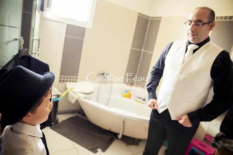 photographe mariage touraine préparatifs marié CF Photographe