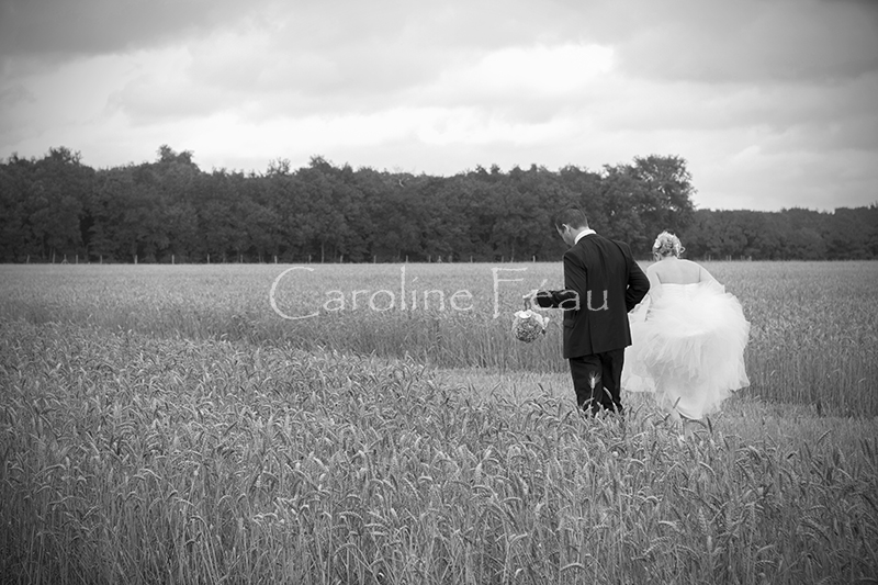 photographe mariage touraine couple champs CF Photographe