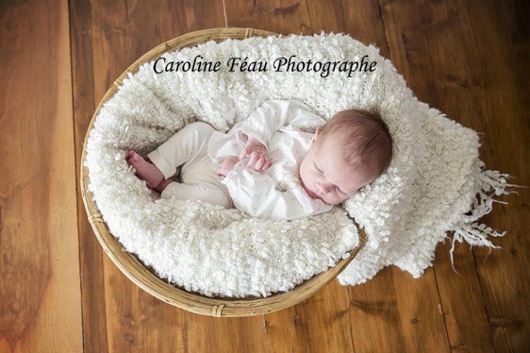 séance photo bébé panier douceur CF Photographe