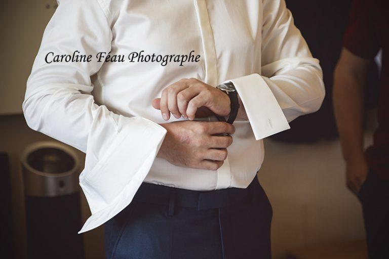habillage du marié CF Photographe