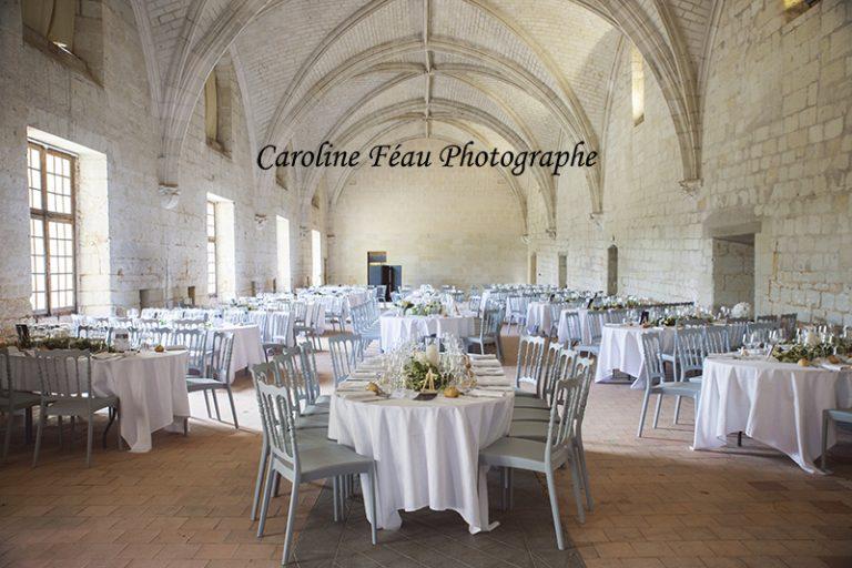 salle du réfectoire Abbaye de Candes Saint Martin mariage CF Photographe