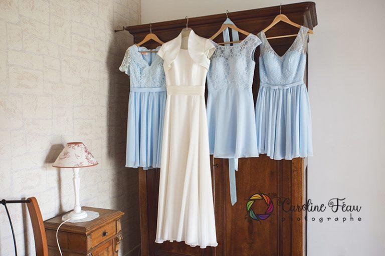 Robe de la mariée robe des demoiselles d'honneur CF Photographe