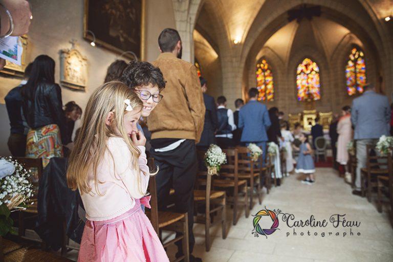 enfants mariage église CF Photographe