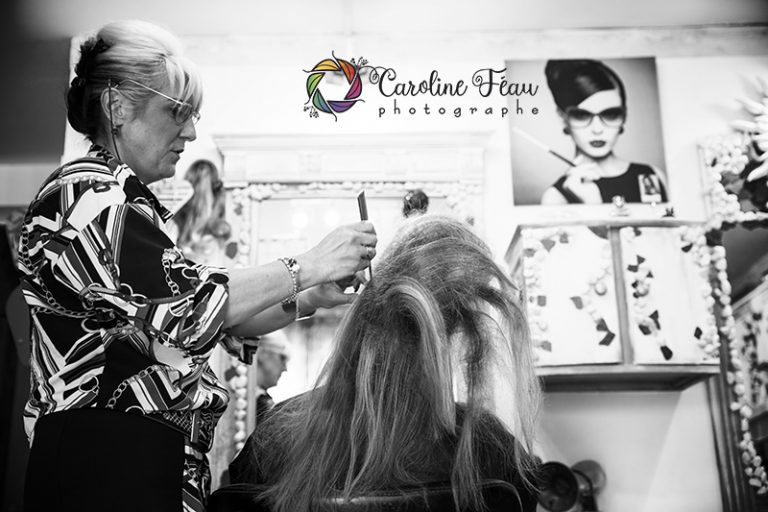 préparatifs mariage coiffure reportage insolite CF Photographe