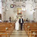 sortie des mariés église Christ Roi Tours Nord 37 CF Photographe