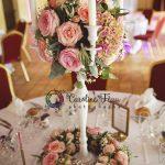 centre de table des mariés Logis des Laurières Saint Martin le Beau CF Photographe