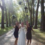 témoin de la mariée bride team jardins du château de Richelieu 37 CF Photographe