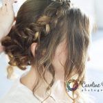 préparatifs coiffure de la mariée tresse chignon CF Photographe