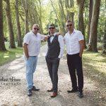 équipe du marié groom team jardins du château de Richelieu 37 CF Photographe