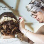 préparatifs coiffure de la mariée CF Photographe